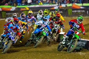 Kawasaki's Ryan Villopoto and Dean Wilson Fight for the Podium at A1