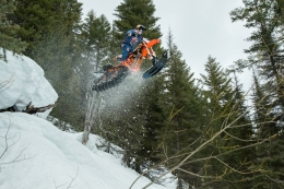 Darren Berrecloth and Robbie Maddison learn snow biking in thrilling new series