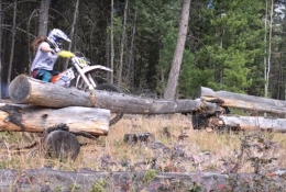 Megan Griffiths: How to ride over suspended logs on a dirt bike