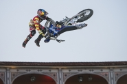 Germany/ Munich/ Red Bull X-Fighters / Revolutionary riders, floating track, all-out action