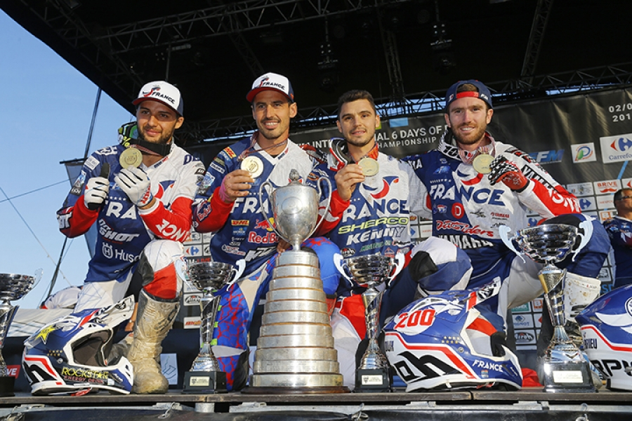 France are the 2017 FIM World Trophy team champions at the 2017 FIM International Six Days Enduro (ISDE) in Brive, France.