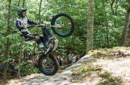 THE ACROBATICS OF TRAILS RIDING RETURNED TO STEPPING STONES ON RHODE ISLAND IN JULY.