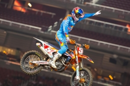 450-CLASS CHAMPION RYAN DUNGEY CONTINUES TO SHINE AT SANTA CLARA SUPERCROSS