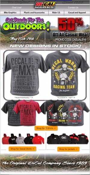 DeCal Works Casual Wear Sale  - 50% off