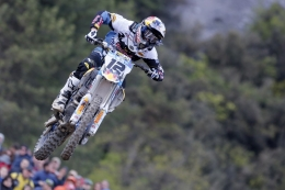 Max Nagl secures the top step of the podium at MXGP of Trentino, Italy