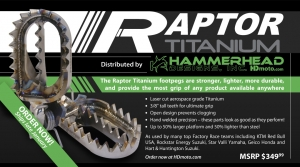 HAMMERHEAD TO DISTRIBUTE RAPTOR FOOTPEGS!