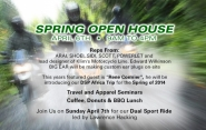 Dual Sport Plus Open House This Saturday, April 6