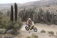 Beaule claimed his second straight Dakar finish on Saturday, but first on a motorcycle.