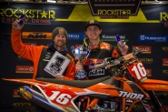 KTM RED BULL THOR RIDER COLE THOMPSON WINS THE 450 AX TOUR CHAMPIONSHIP