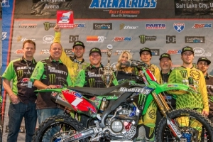 Team Babbitt's Monster Energy/Amsoil Kawasaki' s Tyler Bowers Wins Fourth-Consecutive Amsoil Arenacross Championship
