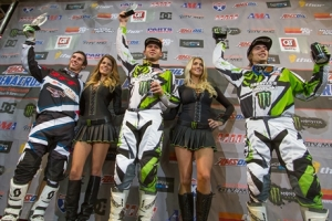 Team Babbitt's Monster Energy/Amsoil Kawasaki's Bowers and Villopoto Top the Podium in Tulsa