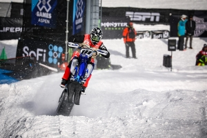 Cody Matechuk (Cochrane, AB) won Snow BikeCross Gold at the 2018 X Games.