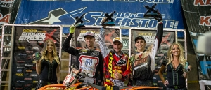 Team Husqvarna's Cory Graffunder Celebrates EnduroCross Podium