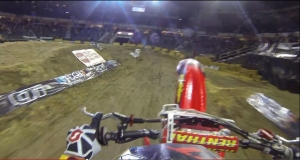 One lap at the 2013 Lethbridge Arenacross